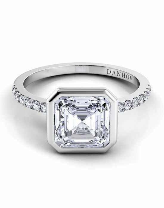 Danhov Asscher Cut Engagement Ring