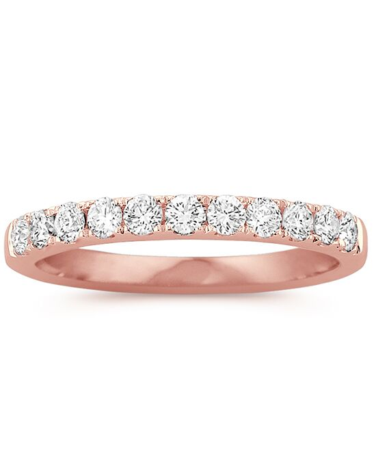 Shane Co. Pavé Set Diamond Wedding Band in 14k Rose Gold Rose Gold Wedding Ring