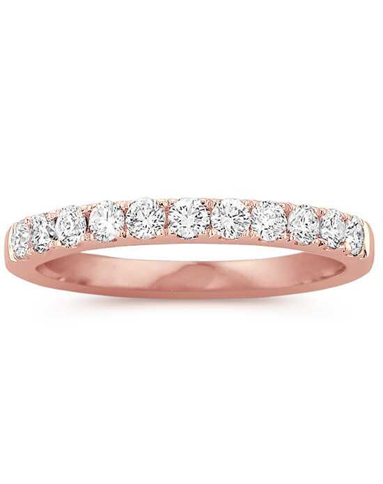 shane co pav set diamond wedding band in 14k rose gold - Rose Gold Diamond Wedding Ring