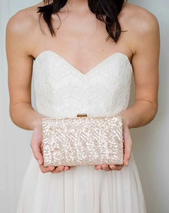 Davie & Chiyo | Clutch Collection Ella Box Clutch Gold, Pink, Champagne Clutches + Handbag