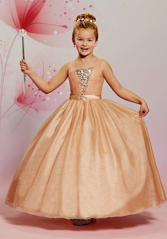 Cupids by Mary's F475 Gold Flower Girl Dress