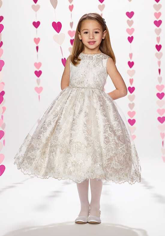 Joan Calabrese by Mon Cheri 217375 Silver Flower Girl Dress