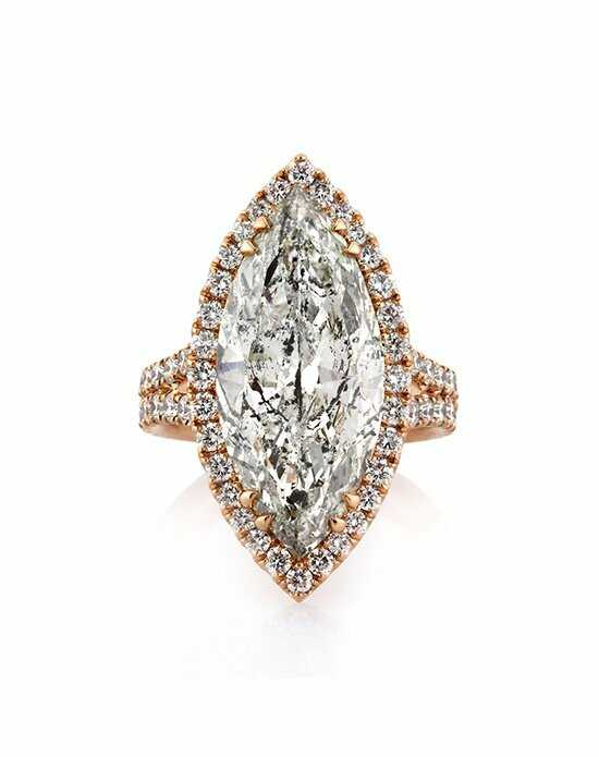 Mark Broumand Glamorous Marquise Cut Engagement Ring