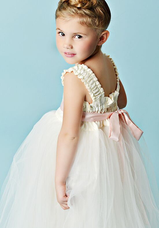 FATTIEPIE Grace - tea Ivory Flower Girl Dress