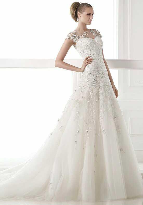 Pronovias centaurus wedding dress the knot for Pronovias wedding dresses price range