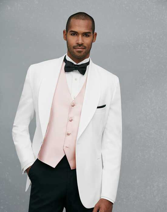 Jos. A. Bank One-Button Shawl Lapel Dinner Jacket White Tuxedo