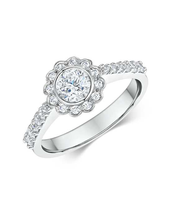 """Yes!"" Platinum Jewelry  Dora International-348b00 Engagement Ring photo"