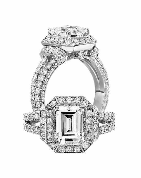 Jack Kelege Emerald Cut Engagement Ring