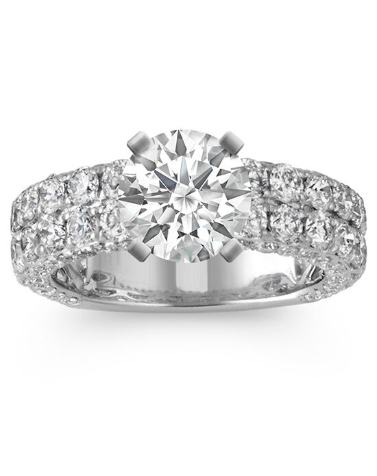 Shane Co. Pear-Shaped Double Halo Diamond Engagement Ring ...