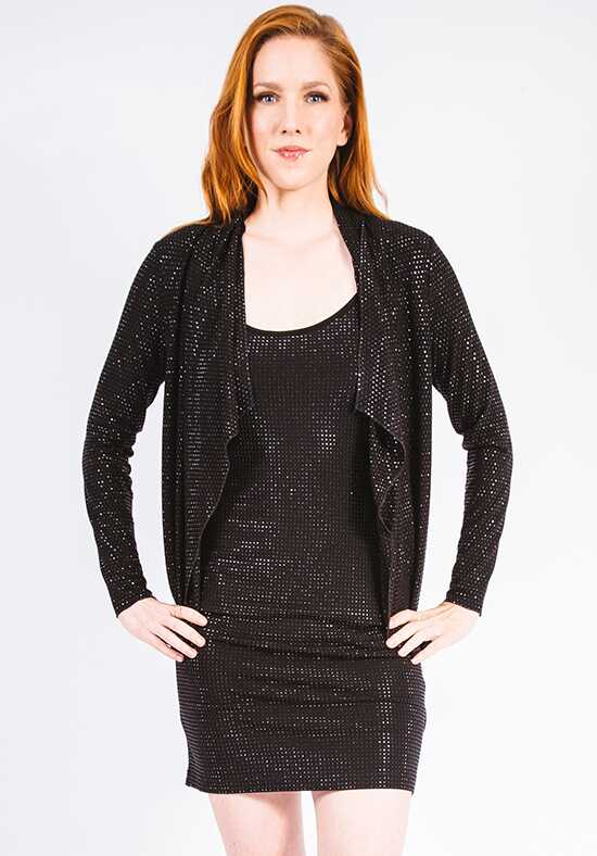 Grayse Wedding Party Pave Drape Cardigan - W2421212 Black Mother Of The Bride Dress