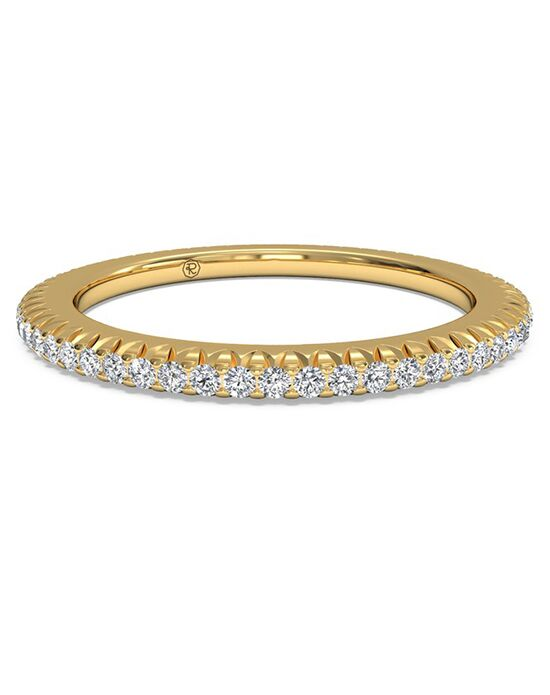 Ritani Women's Open Micropave Diamond Eternity Wedding Ring - in 18kt Yellow Gold - (0.30 CTW) Gold Wedding Ring