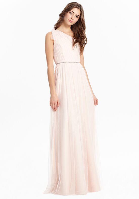 silver a line one shoulder chiffon dress