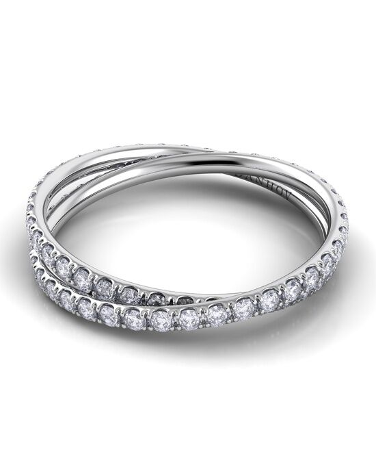 Danhov Eleganza Diamond Braid Band Platinum Wedding Ring
