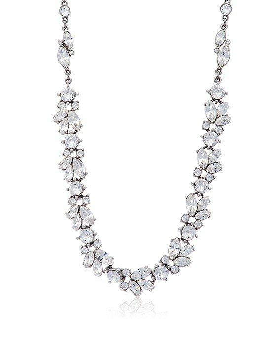 Thomas Laine Ben-Amun Floral Crystal Necklace Wedding Necklace photo