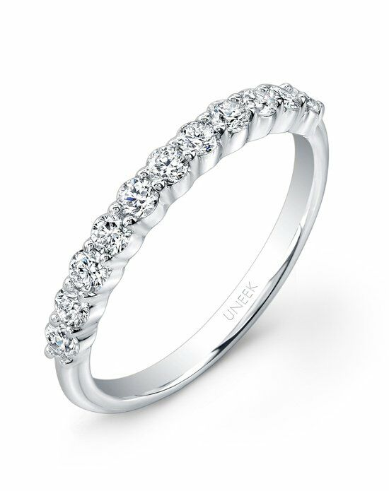 Uneek Fine Jewelry UWB012 White Gold Wedding Ring