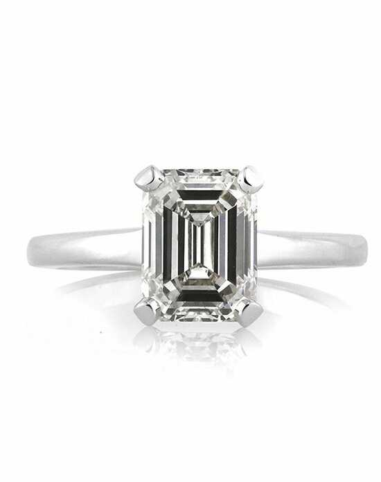 Mark Broumand 2.60ct Emerald Cut Diamond Engagement Solitaire Engagement Ring Engagement Ring photo