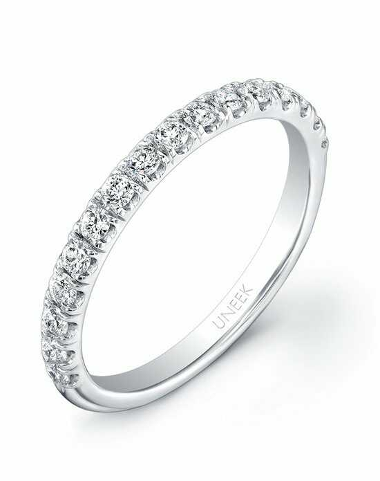 Uneek Fine Jewelry UWB011 White Gold Wedding Ring