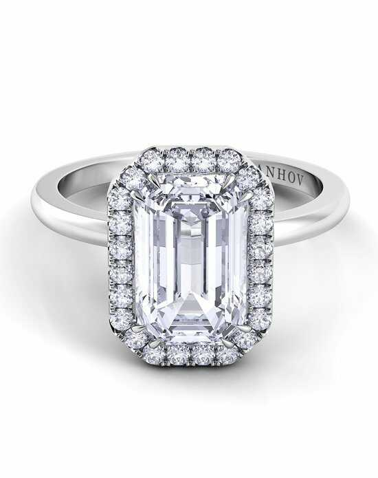 Danhov Emerald Cut Engagement Ring