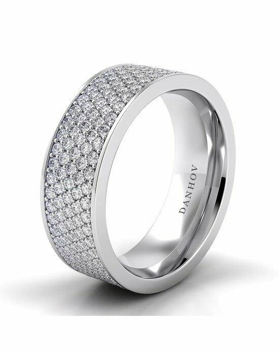 Danhov Classico Band White Gold Wedding Ring