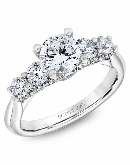 Scott Kay Round Cut Engagement Ring
