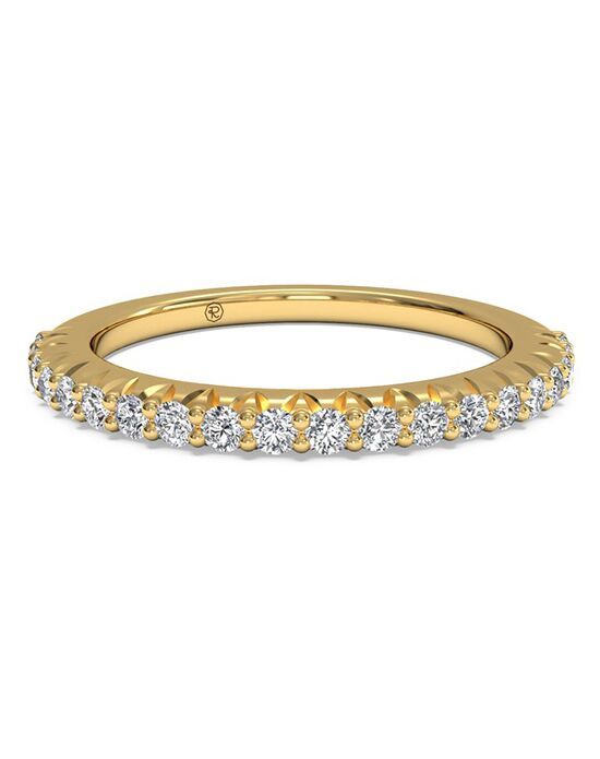 Ritani Women's French-Set Diamond Wedding Band - in 18kt Yellow Gold (0.33 CTW) Gold Wedding Ring