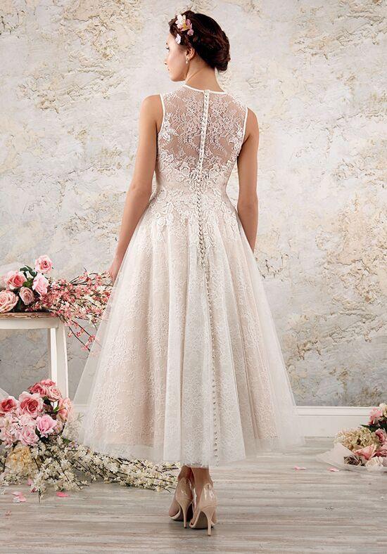 Alfred angelo modern vintage bridal collection 8556 for Vintage t length wedding dresses