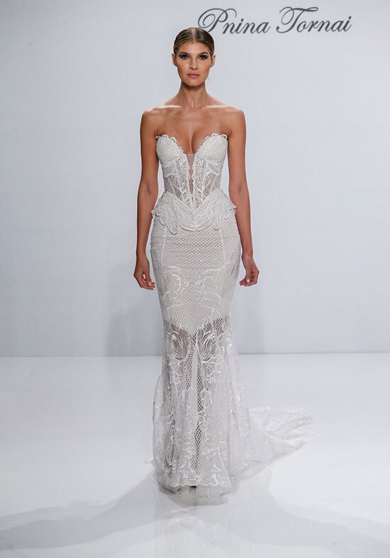 Pnina Tornai for Kleinfeld 4528 Sheath Wedding Dress