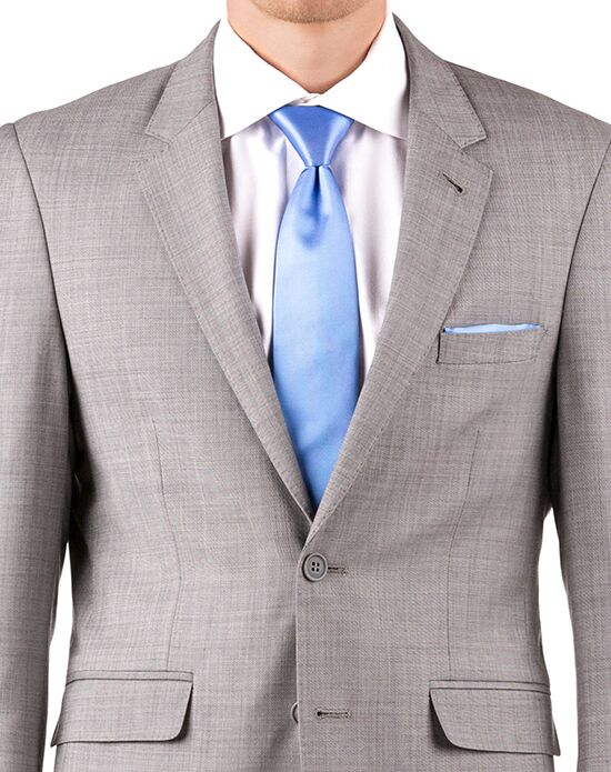 Generation Tux Gray Sharkskin Notch Lapel Suit White, Black, Gray Tuxedo