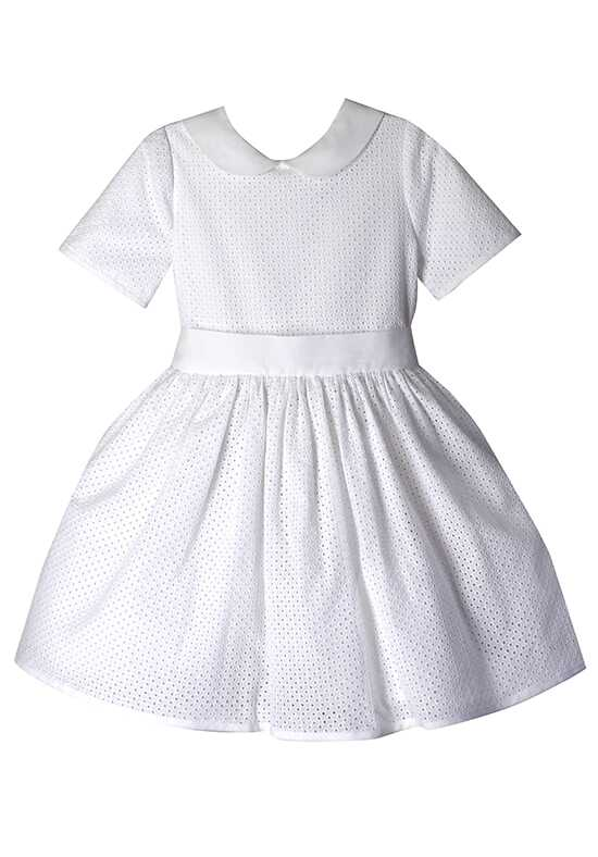 Isabel Garretón Meadow White Flower Girl Dress