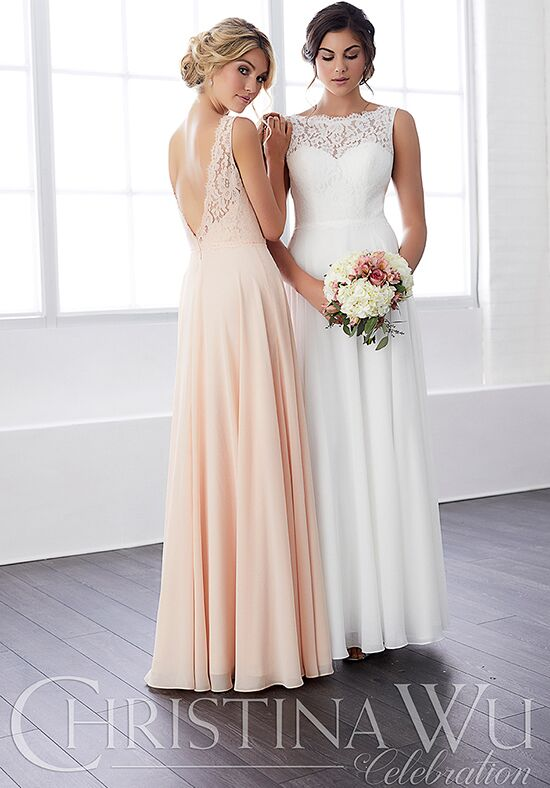 Christina Wu 22813 Illusion Bridesmaid Dress
