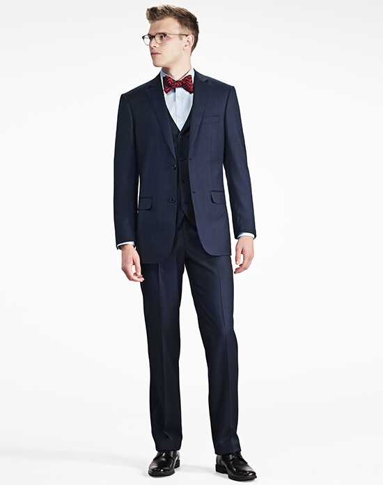 Generation Tux Navy Blue Notch Lapel Suit Blue Tuxedo