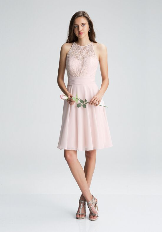Bill Levkoff 1401 Illusion Bridesmaid Dress