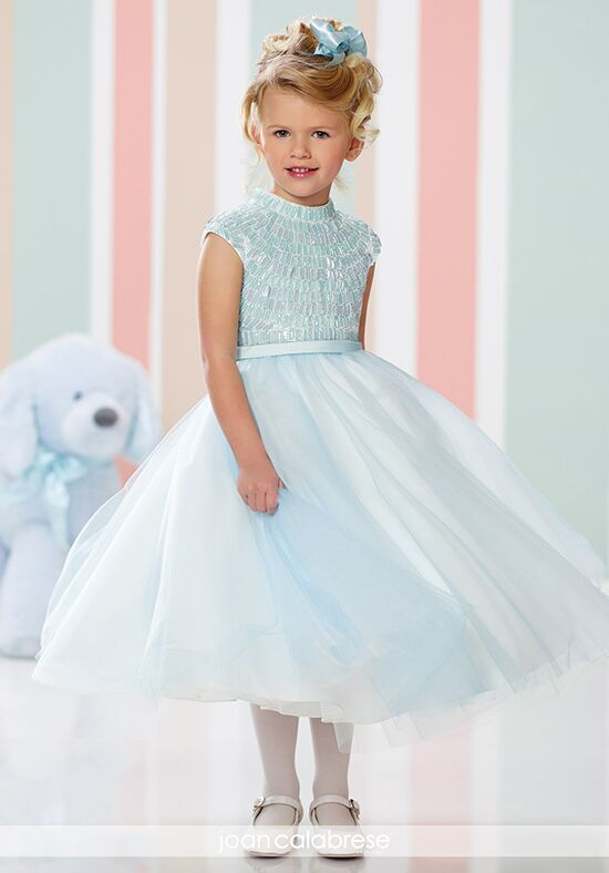 Joan Calabrese by Mon Cheri 216319 Blue Flower Girl Dress