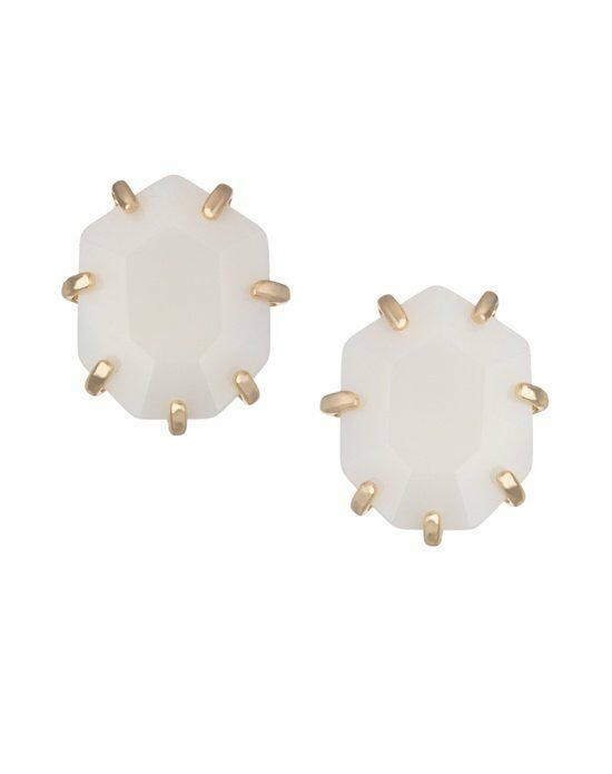 Kendra Scott Morgan Stud Earrings in White Wedding  photo