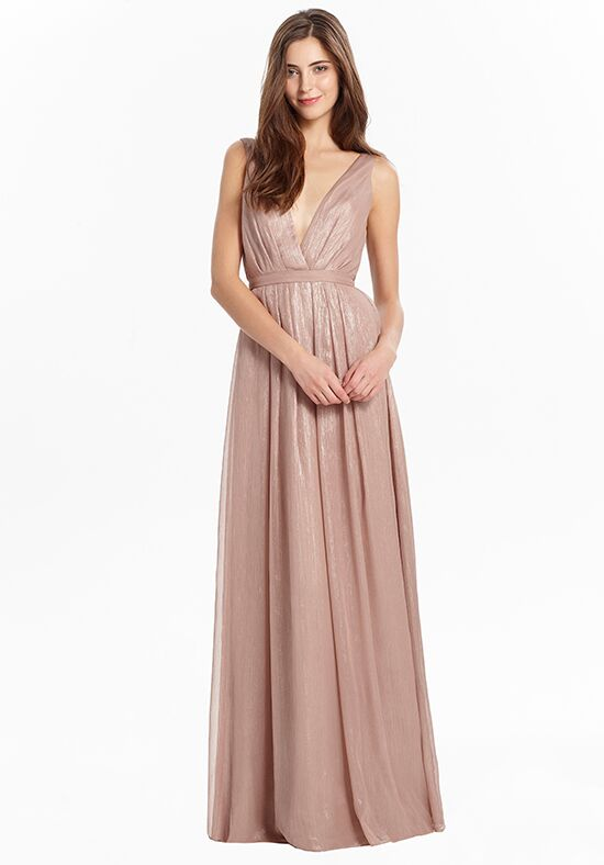 Monique Lhuillier Bridesmaids 450476 V-Neck Bridesmaid Dress