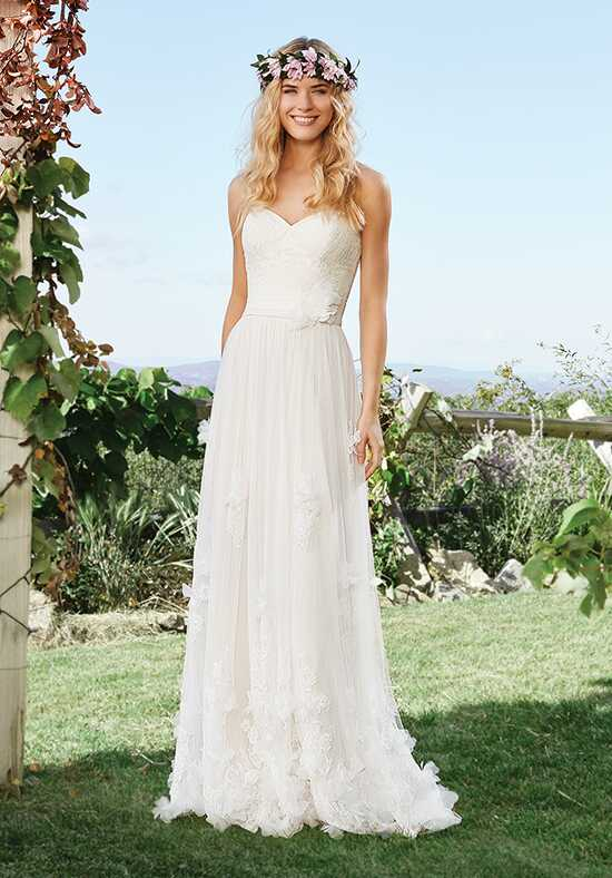 Lillian West 6428 A-Line Wedding Dress