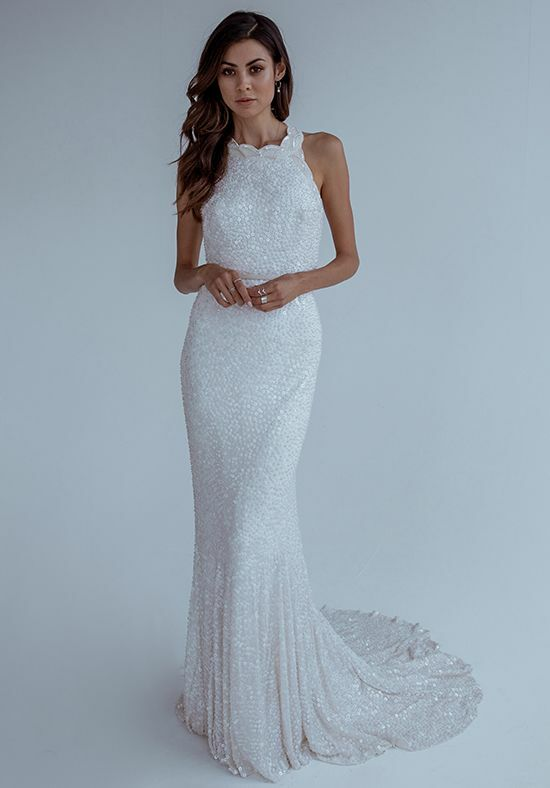 KAREN WILLIS HOLMES Cindy Mermaid Wedding Dress