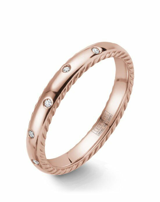 CrownRing WB-019RD3R-M6 Rose Gold Wedding Ring