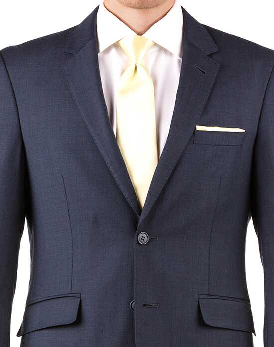 Generation Tux Navy Blue Notch Lapel Suit Black, White, Blue Tuxedo