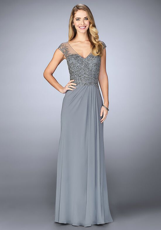 Grey Mother of the Bride Dress