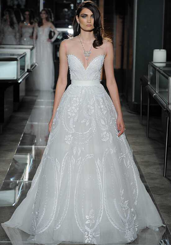 Reem Acra 5733-Opulent Ball Gown Wedding Dress
