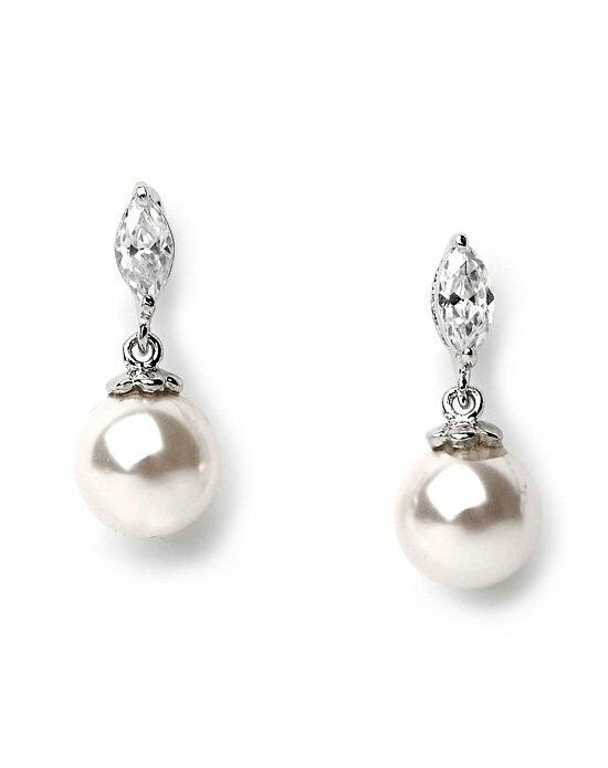 USABride Petite Pearl Drop Earrings JE-640 Wedding Earring photo