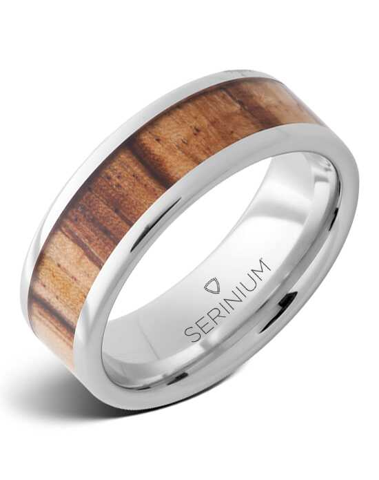 Serinium® Collection Veldt — Zebrawood Inlay Serinium® Ring-RMSA002926 Serinium® Wedding Ring