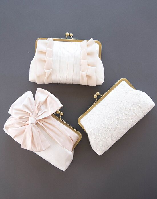 Davie & Chiyo | Clutch Collection Blush & Ivory Clutch Set Ivory, Pink Clutches + Handbag