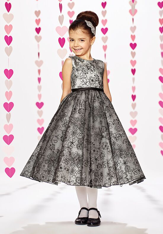 Joan Calabrese by Mon Cheri 217373 Black Flower Girl Dress