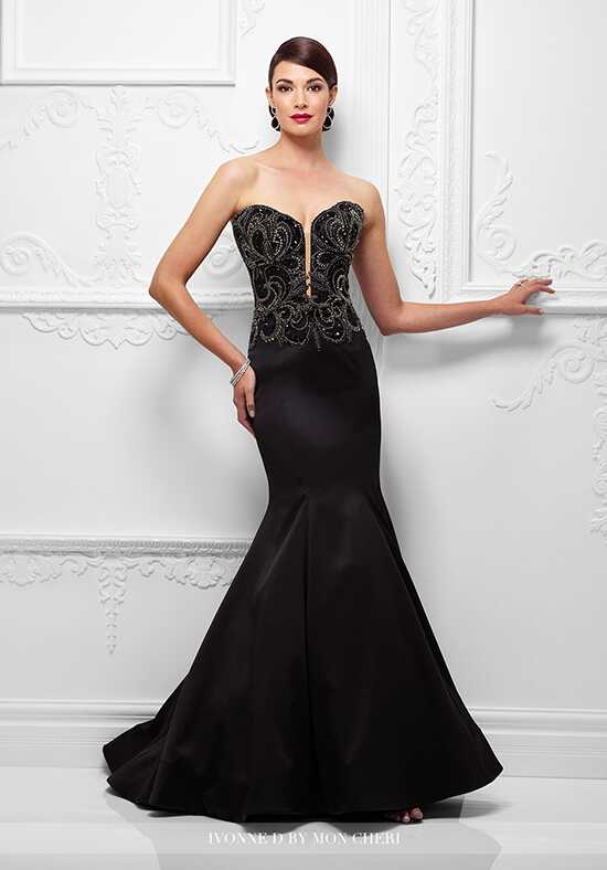 Ivonne D. 117D73 Black Mother Of The Bride Dress
