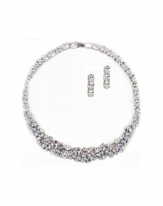 Anna Bellagio Fallon Necklace and Earring Set-Silver Wedding Earring photo