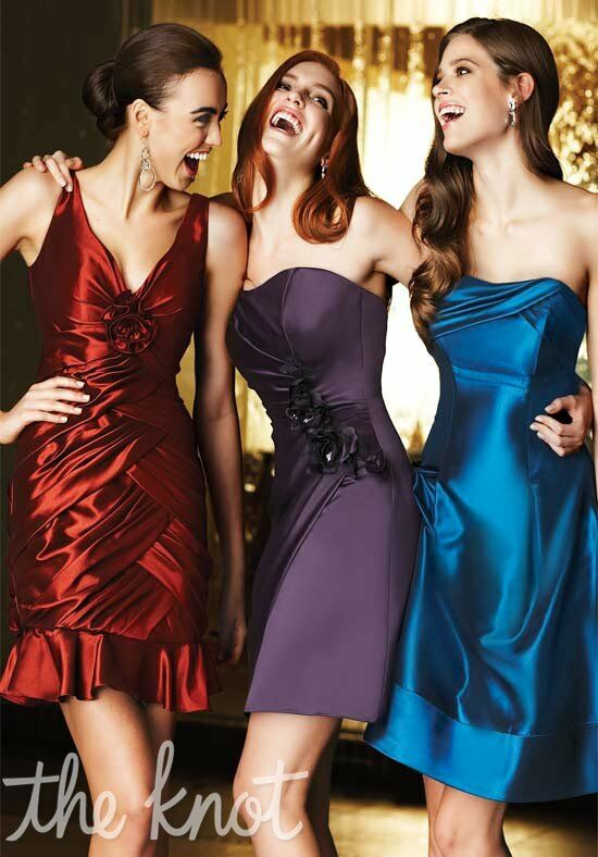 Simone Carvalli Bridesmaids 96026/96010/96031 Strapless, Sweetheart, V-Neck Bridesmaid Dress