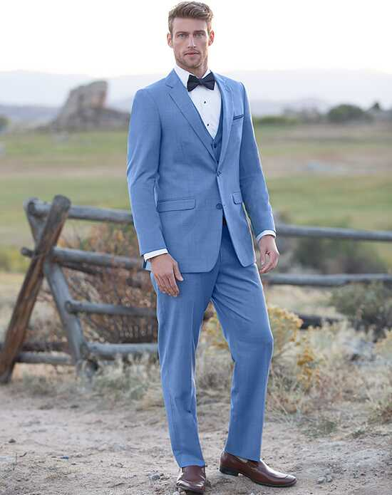Blue Wedding Tuxedos + Suits