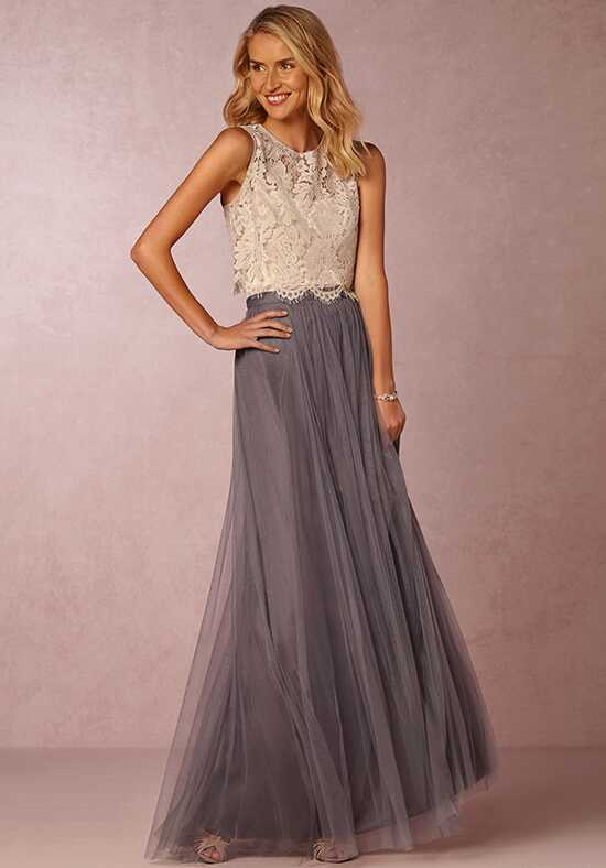 BHLDN (Bridesmaids) Cleo Top-Light Grey Bridesmaid Dress photo